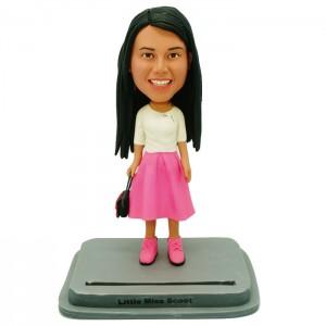 personalized fashion lady card holder bobblehead