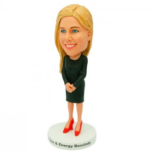 personalized female colleague bobblehead