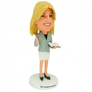 personalized female teacher bobblehead