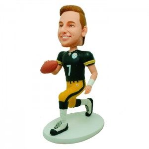 personalized football bobble head doll