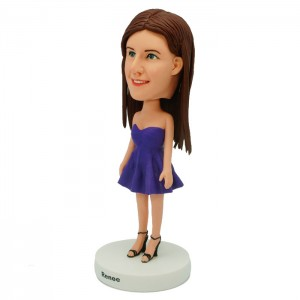 personalized pretty lady bobblehead