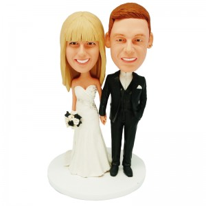 personalized wedding cake topper bobblehead