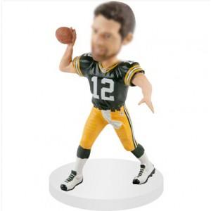 quarterbacks personalized football bobblehead doll