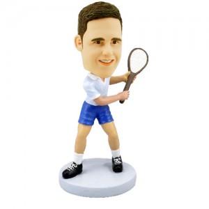 tennis personalized bobble head